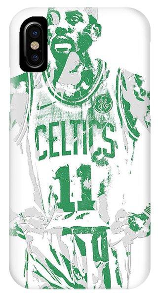 Kyrie Irving iPhone Case - Kyrie Irving Boston Celtics Pixel Art 8 by Joe Hamilton