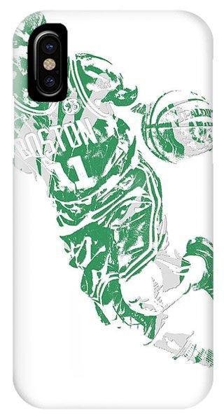 Tickets iPhone Case - Kyrie Irving Boston Celtics Pixel Art 9 by Joe Hamilton