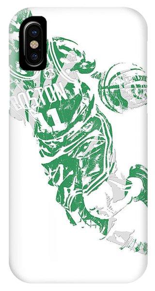 Kyrie Irving iPhone Case - Kyrie Irving Boston Celtics Pixel Art 9 by Joe Hamilton