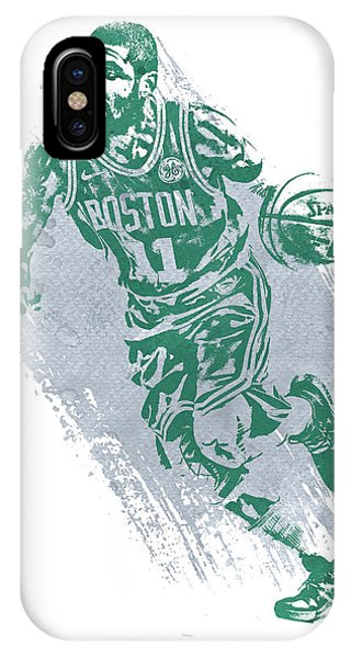 Celtics iPhone Case - Kyrie Irving Boston Celtics Water Color Art 2 by Joe Hamilton