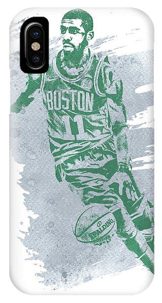 Celtics iPhone Case - Kyrie Irving Boston Celtics Water Color Art 3 by Joe Hamilton