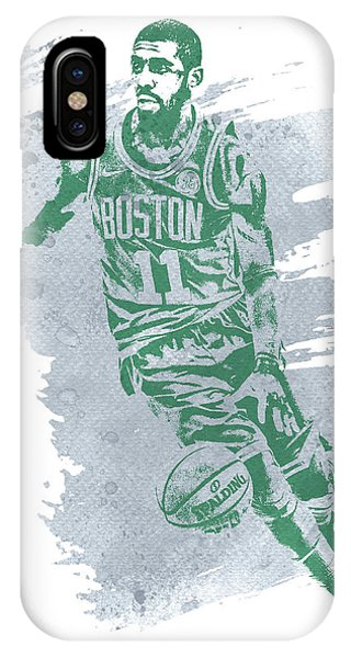 Kyrie Irving iPhone Case - Kyrie Irving Boston Celtics Water Color Art 3 by Joe Hamilton
