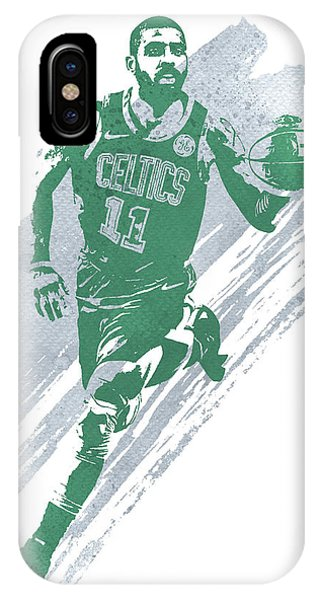 Celtics iPhone Case - Kyrie Irving Boston Celtics Water Color Art 4 by Joe Hamilton
