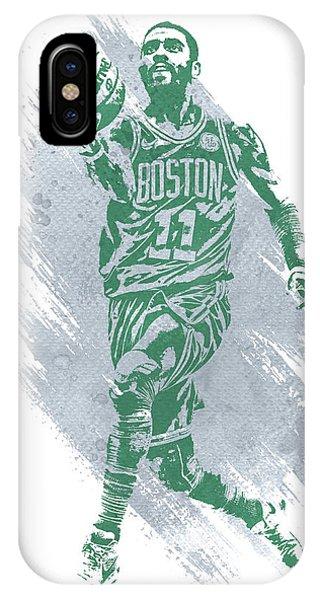 Kyrie Irving iPhone Case - Kyrie Irving Boston Celtics Water Color Art by Joe Hamilton