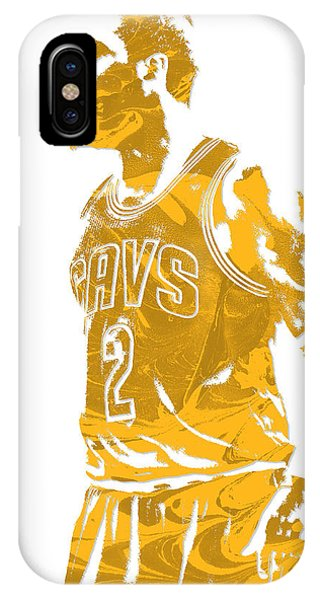 Kyrie Irving iPhone Case - Kyrie Irving Cleveland Cavaliers Pixel Art 10 by Joe Hamilton