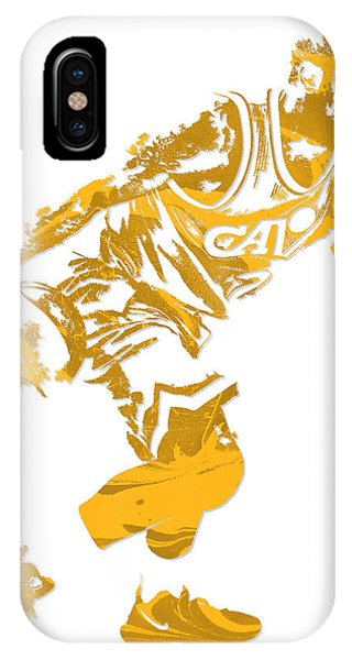 Kyrie Irving iPhone Case - Kyrie Irving Cleveland Cavaliers Pixel Art 12 by Joe Hamilton