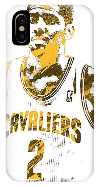 Kyrie Irving iPhone Case - Kyrie Irving Cleveland Cavaliers Pixel Art 3 by Joe Hamilton