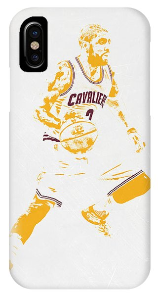 Kyrie Irving iPhone Case - Kyrie Irving Cleveland Cavaliers Pixel Art by Joe Hamilton