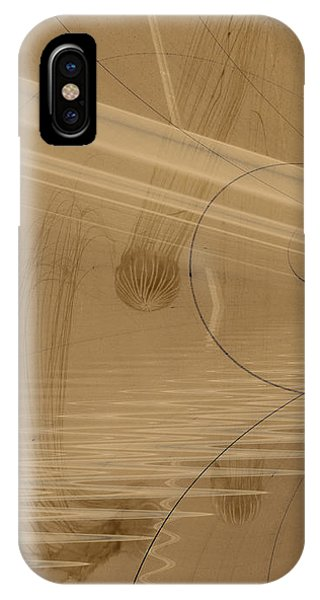 Fractals In Atlantis Left IPhone Case