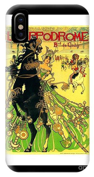 L Hippodrome 1905 Parisian Art Nouveau Poster II 1905 IPhone Case