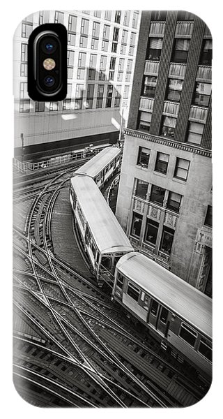 L Train In Chicago IPhone Case