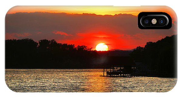 Bloody Red Sunset Smith Mountain Lake IPhone Case