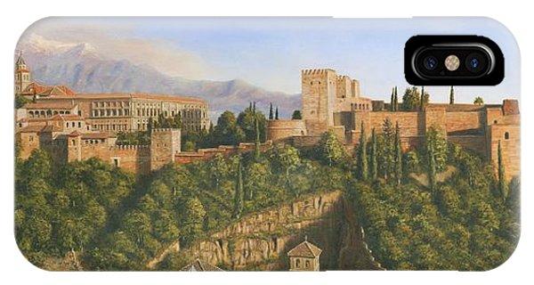 Palace iPhone Case - La Alhambra Granada Spain by Richard Harpum