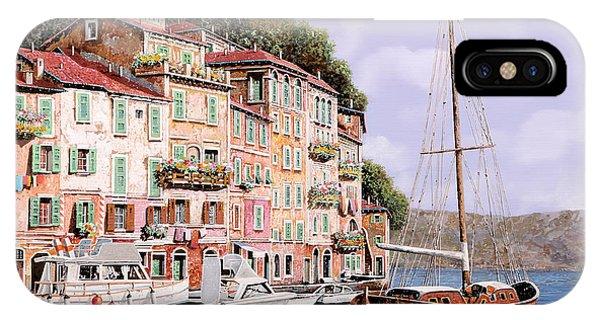 Red iPhone X Case - La Barca Rossa Alla Calata by Guido Borelli