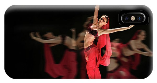IPhone Case featuring the photograph La Bayadere Ballerina In Red Tutu Ballet by Dimitar Hristov