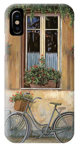 IPhone Case featuring the painting La Bici by Guido Borelli