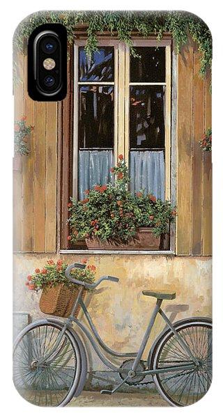 Bike iPhone X Case - La Bici by Guido Borelli