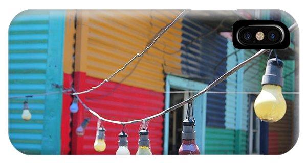 La Boca Lightbulbs IPhone Case