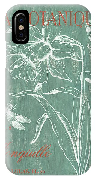 Dragon iPhone Case - La Botanique Aqua by Debbie DeWitt
