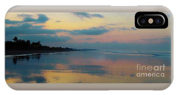 la Casita Playa Hermosa Puntarenas - Sunrise One - Painted Beach Costa Rica Panorama IPhone Case
