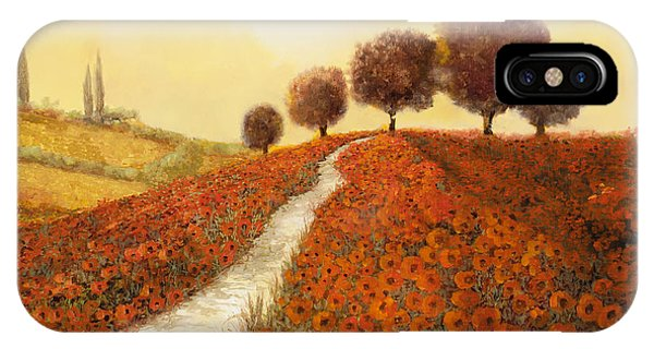 Italy iPhone Case - La Collina Dei Papaveri by Guido Borelli