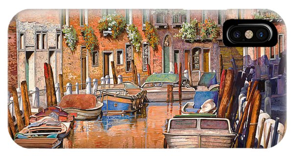 Orange Sunset iPhone Case - La Curva Sul Canale by Guido Borelli