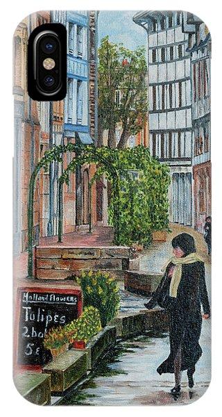 La Femme Aux Tulipes IPhone Case