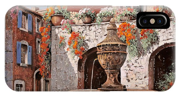 Ice iPhone Case - la fontana a St Paul de Vence by Guido Borelli