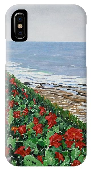 IPhone Case featuring the painting La Jolla Beach, San Diego by Ray Khalife
