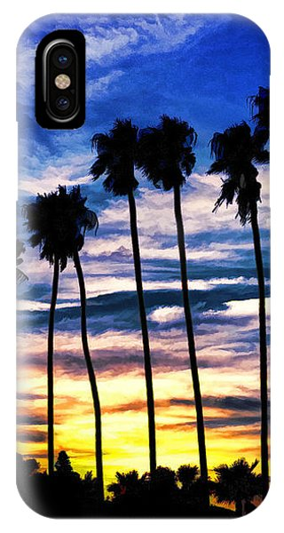La Jolla Silhouette - Digital Painting IPhone Case