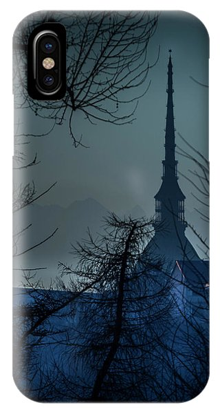 La Mole Antonelliana-blu IPhone Case