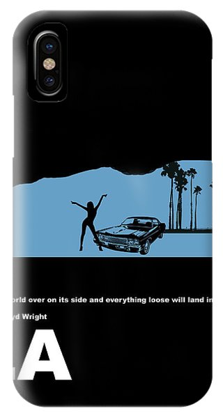 Car iPhone X Case - La Night Poster by Naxart Studio