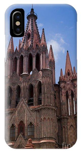 San Miguel iPhone Case - La Parroquia De San Miguel Arcangel In San Miguel Mexico by Juli Scalzi