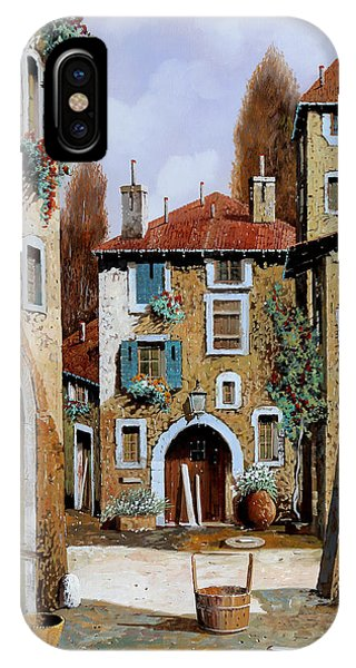 Basket iPhone Case - La Piazzetta by Guido Borelli