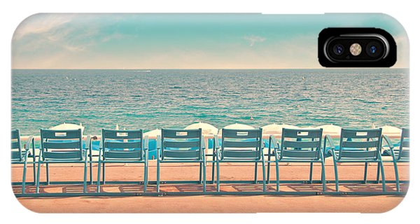 French Riviera iPhone Case - La Promenade by Delphimages Photo Creations