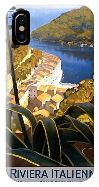 La Riviera Italienne, Travel Poster For Enit, Ca. 1920 IPhone Case