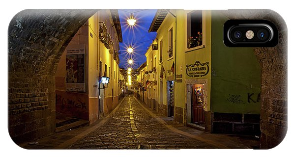 La Ronda Calle In Old Town Quito, Ecuador IPhone Case