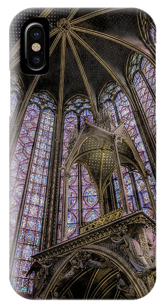 Paris, France - La-sainte-chapelle - Apse And Canopy IPhone Case