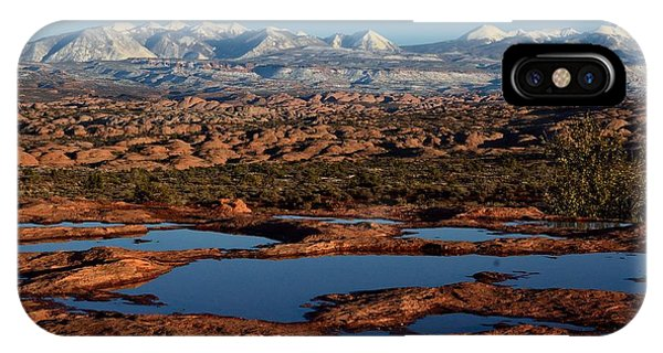 La Sal Mountains And Ephemeral Pools IPhone Case