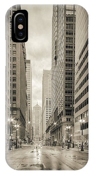 Ben Affleck iPhone Case - Lasalle Street Canyon With Chicago Board Of Trade Building At The South Side - Chicago Illinois by Silvio Ligutti