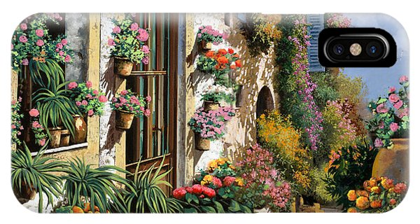 IPhone Case featuring the painting La Strada Del Lago by Guido Borelli