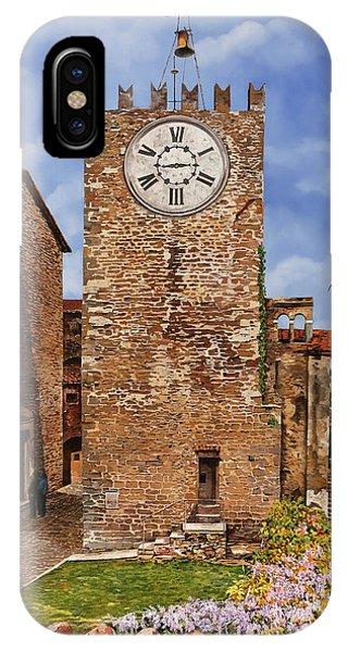 Tile iPhone Case - La Torre Del Carmine-montecatini Terme-tuscany by Guido Borelli