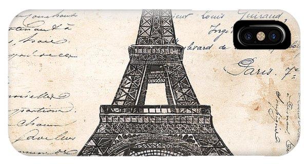 Verse iPhone Case - La Tour Eiffel by Debbie DeWitt
