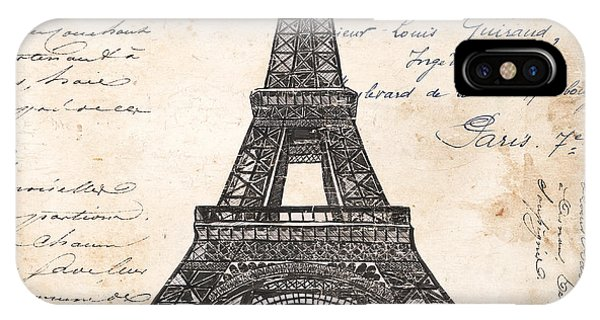 Paris iPhone Case - La Tour Eiffel by Debbie DeWitt