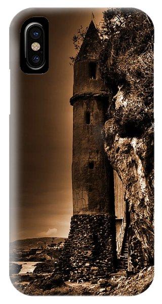 La Tour Upright In Sepia IPhone Case