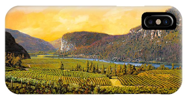 River iPhone Case - La Vigna Sul Fiume by Guido Borelli