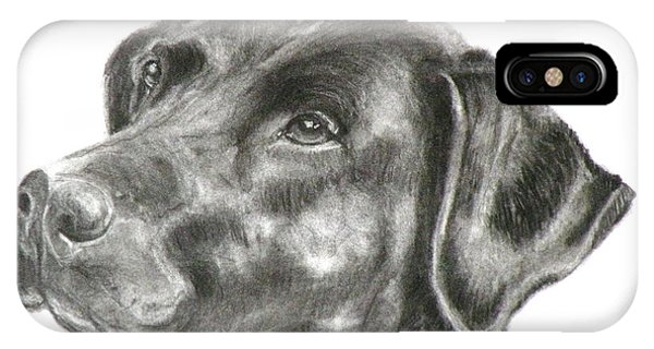 Lab Charcoal Drawing IPhone Case