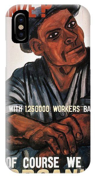 IPhone Case featuring the photograph Labor Poster, 1930s by Granger