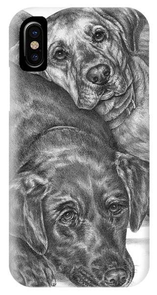 Labrador Dogs Nap Time IPhone Case
