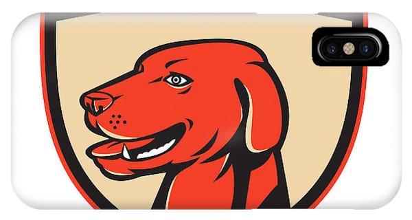 Labrador Golden Retriever Dog Head Shield Retro IPhone Case